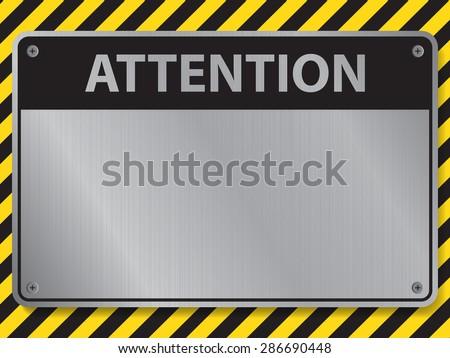 Attention sign, illustration vector - stock vector