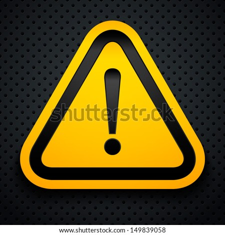 Attention sign. Vector illustration. - stock vector
