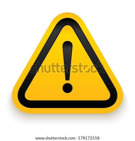 Attention sign. Vector illustration. - stock vector