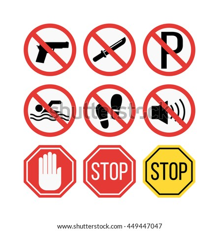 Attention sign vector illustration