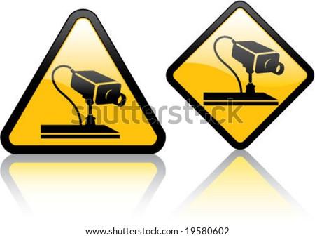 Attention Surveillance Camera - stock vector