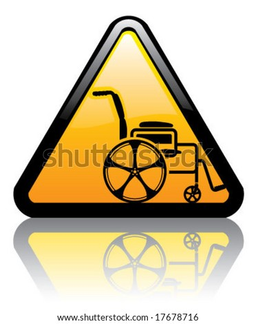 Attention WheelChairs - stock vector