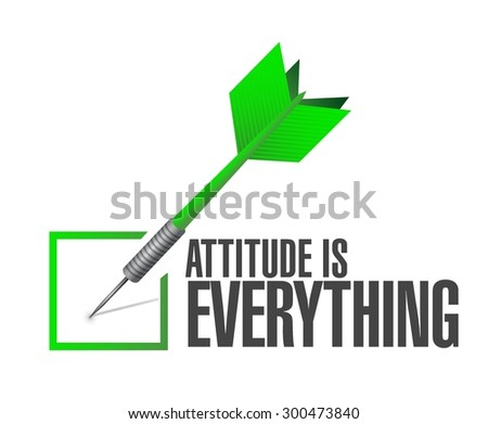 attitude is everything approve check sign concept illustration design icon - stock vector