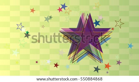 attractive drawing among brochure, stars vector background in fine textile