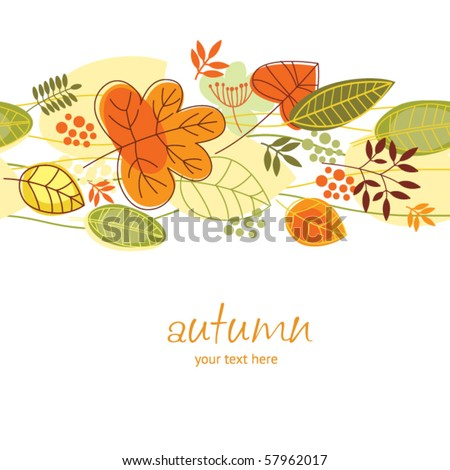 atumnall leaves, seamless illustration