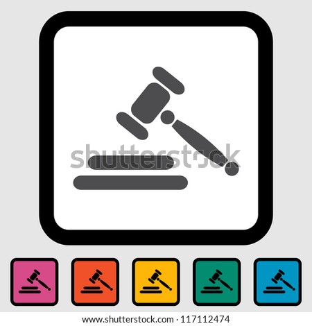 Auction gavel icon. Vector illustration - stock vector