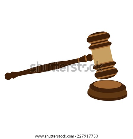 Auction hammer, auction gavel, auction hammer icon, auction icon - stock vector