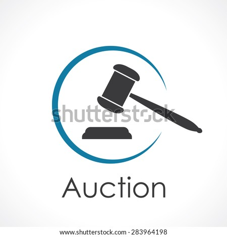 auction. icon  - stock vector
