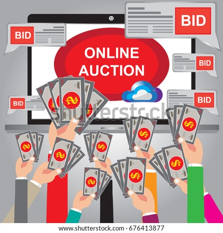 Auction bidding stock images royalty free images for Best online sale sites