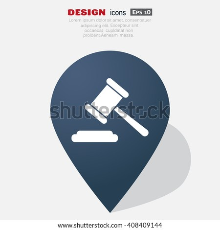 auction web icon. vector design - stock vector