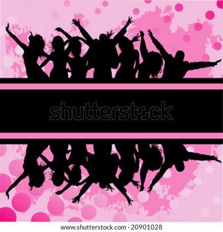 audience cheering success; background vector - stock vector
