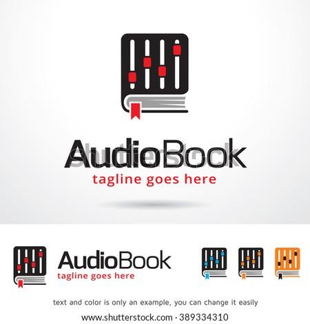 Audio Book Logo Template Design Vector - stock vector