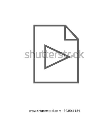Audio file line icon. - stock vector