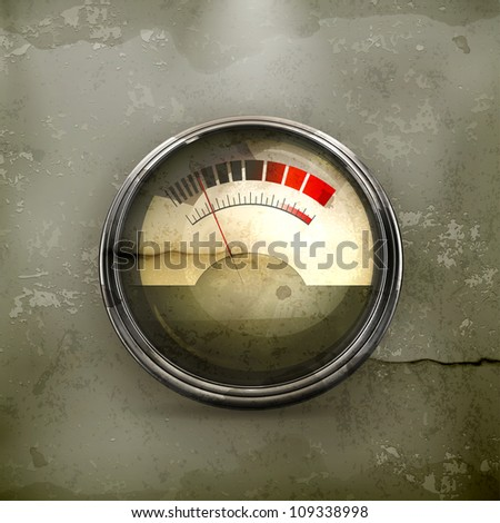 Audio Gauge, old-style vector - stock vector