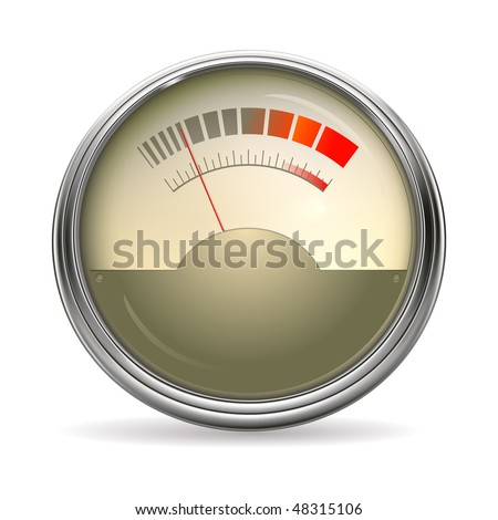 Audio Gauge, vector - stock vector
