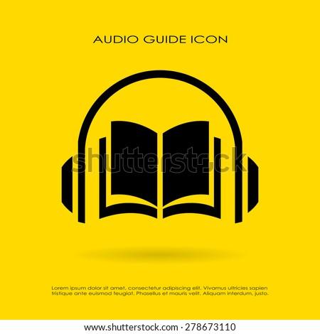 Audio guide icon - stock vector
