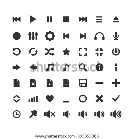 Audio Icons Vector Set...
