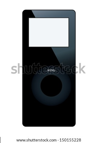 Audio player icon isolated on white background - stock vector