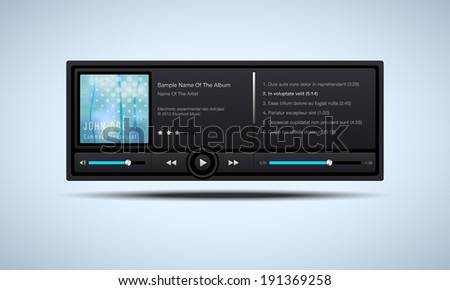 Audio player interface - vector illustration - stock vector