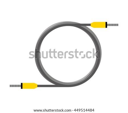 audio plug isolated icon design, vector illustration  graphic  - stock vector