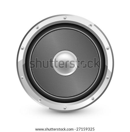 Audio speaker - stock vector