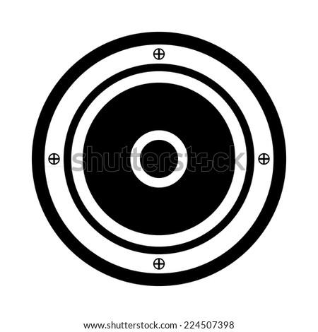 Audio speaker icon on white background. Vector illustration. - stock vector