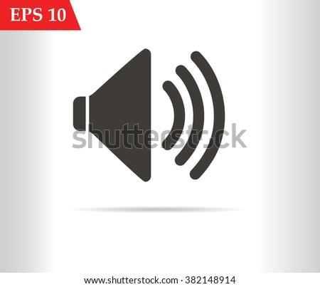 Audio Speaker Volume Icon black.Audio speaker jpg.Audio speaker eps 10.Audio speaker flat.Audio speaker web.Audio speaker stock vector.Audio speaker picture.Audio Speaker Volume image - stock vector