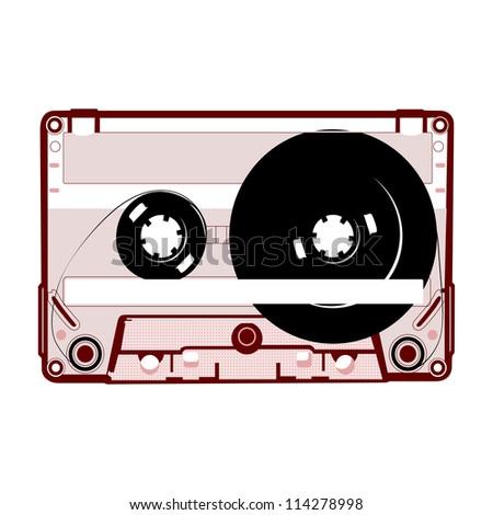 audio tape. vector illustration - stock vector