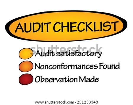 Audit checklist, business concept - stock vector