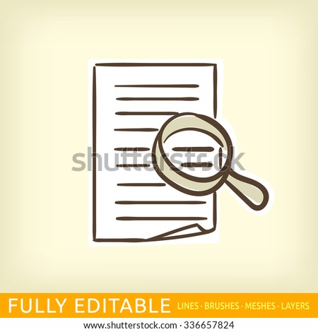 audit documents icon - stock vector