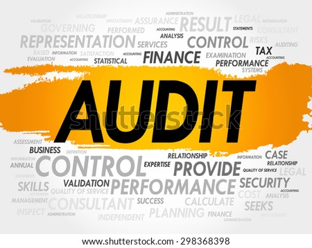 AUDIT word cloud, business concept - stock vector