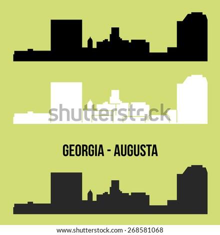 Augusta, Georgia - stock vector
