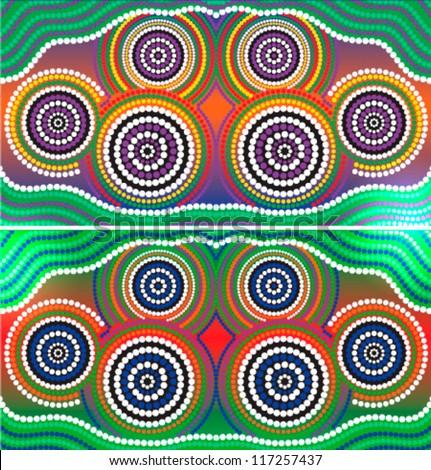 Aboriginal art stock images royalty free images vectors australia aboriginal art vector background toneelgroepblik Image collections