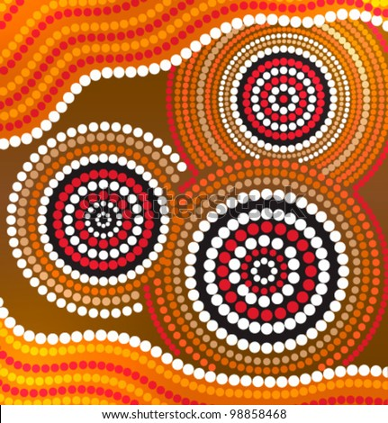 Aboriginal art stock images royalty free images vectors australia aboriginal art vector background toneelgroepblik Image collections