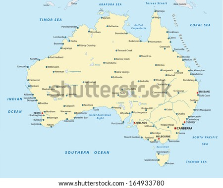 australia city map - stock vector