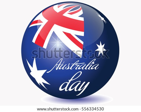 Australia day flag globe.Vector