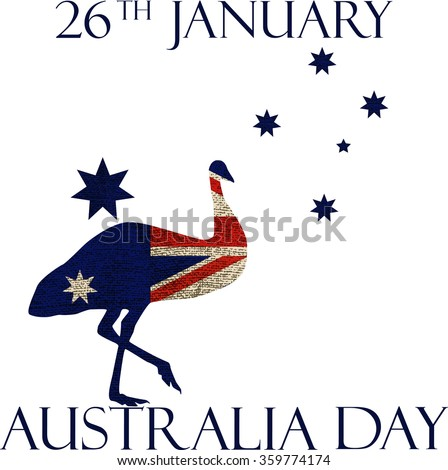 Australia day poster. Australia Day Background. National Celebration Card.