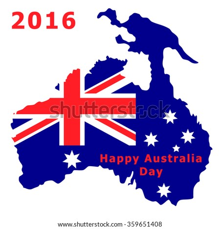 Australia Day 2016. The national flag. Vector Illustration isolated on white background.