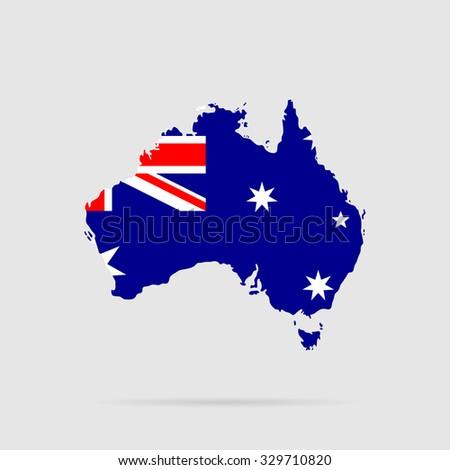 Australia flag. Silhouette. Vector - stock vector