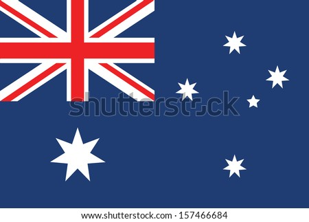 australia flag vector - stock vector