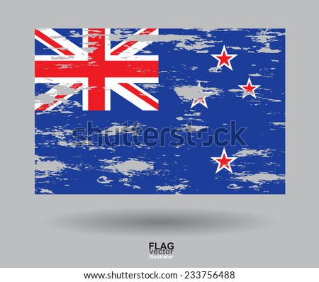 Australia Flag vintage textured background. Vector, EPS10  - stock vector