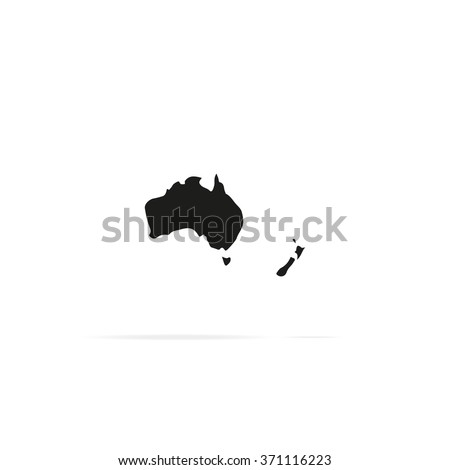 Australia New Zealand Map Stock Images RoyaltyFree Images - Map of australia and new zeland