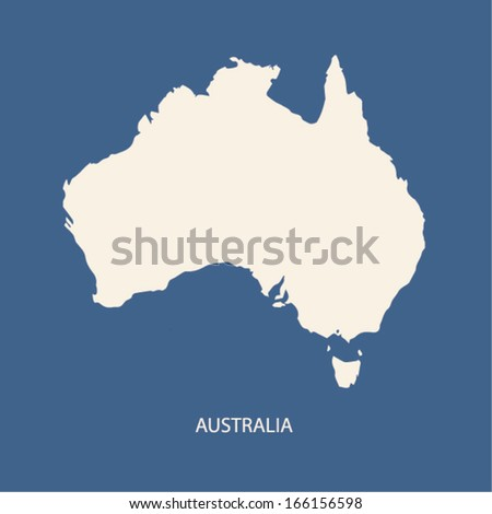 AUSTRALIA MAP VECTOR - stock vector