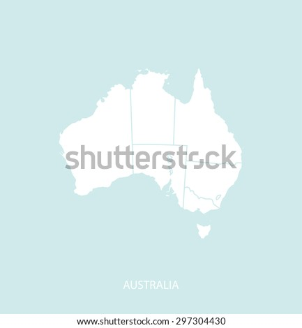 Australia map vector in a faded background, Australia map outlines for publication, science, and web-page template uses  - stock vector