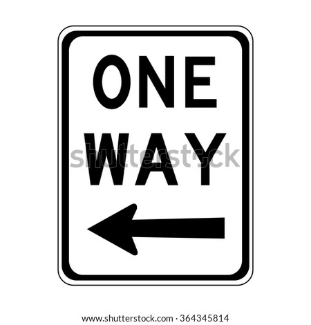 Australia One Way Left Sign