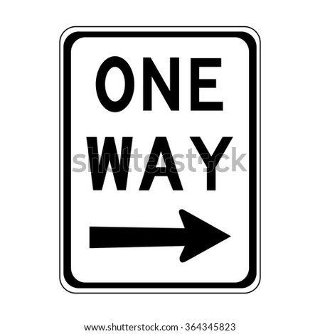 Australia One Way Right Sign