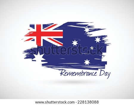 australia remembrance day illustration design over a white background - stock vector