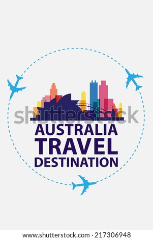australia travel - stock vector