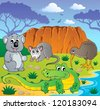 Australian animals theme 3 - vector illustration. - stock vector