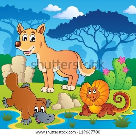 Australian animals theme 2 - vector illustration. - stock vector